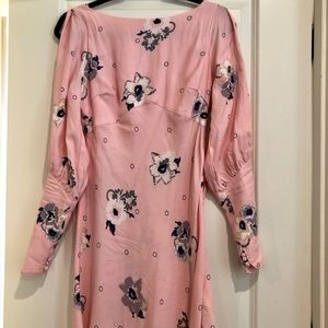 Pretty Pink Long Sleeves Dress